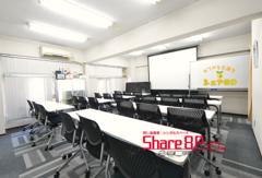 Share8P『ランダム』お気軽会議室®グループ Wi-Fi NTT光 60inchTV 大型スクリーン+エプソンプロジェクター