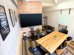 【CoCo.BASE名駅】⭐️毎回清掃⭐️名古屋駅徒歩2分⭐️65インチ4Kモニター JBLサウンドバー付⭐️高速Wi-Fi⭐️ブルックリンスタイルの快適空間でアイデアふくらむオシャレなミーティングスペース