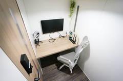 ⭐️光回線導入!⭐️<個室型ワークブース鶴見No.6>完全個室⭐️Wi-Fi完備!モニターあり/テレワーク/Web会議/面接