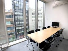 新宿徒歩5分 会議室 【本館】知恵の場オフィス 会議室F(最大8名)24時間利用可能