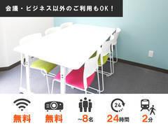 【天神駅徒歩2分】最大8名収容可 全ての備品・Wi-Fiが無料!801会議室の写真