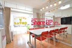 Share8P パウダールーム『鏡』NTT光、テレビ、ホワイトボード、加湿空気清浄器標準装備 テレワーク応援プラン有り コスプレ・セットサロン用・パーティールーム