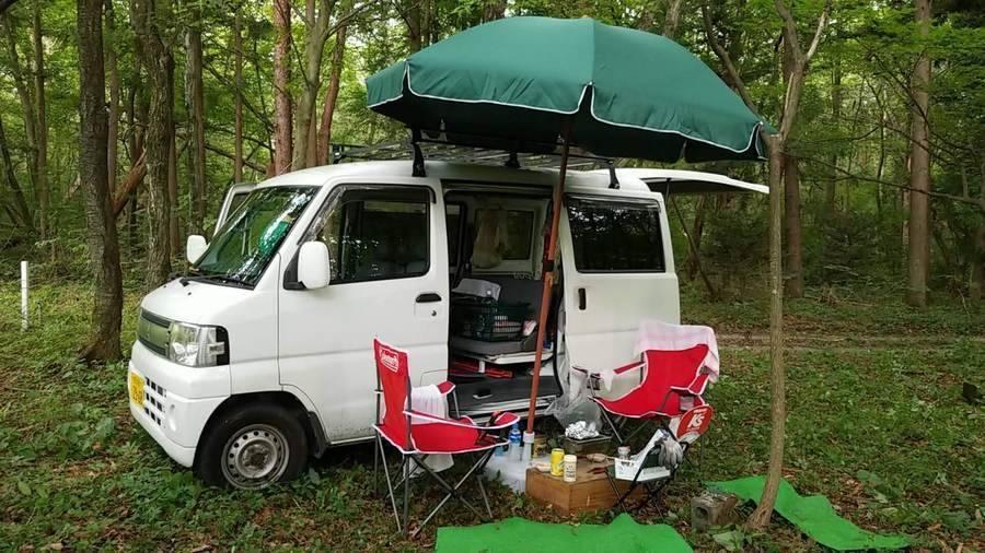 ぼうさい村キャンプ場 ピラミッドの森