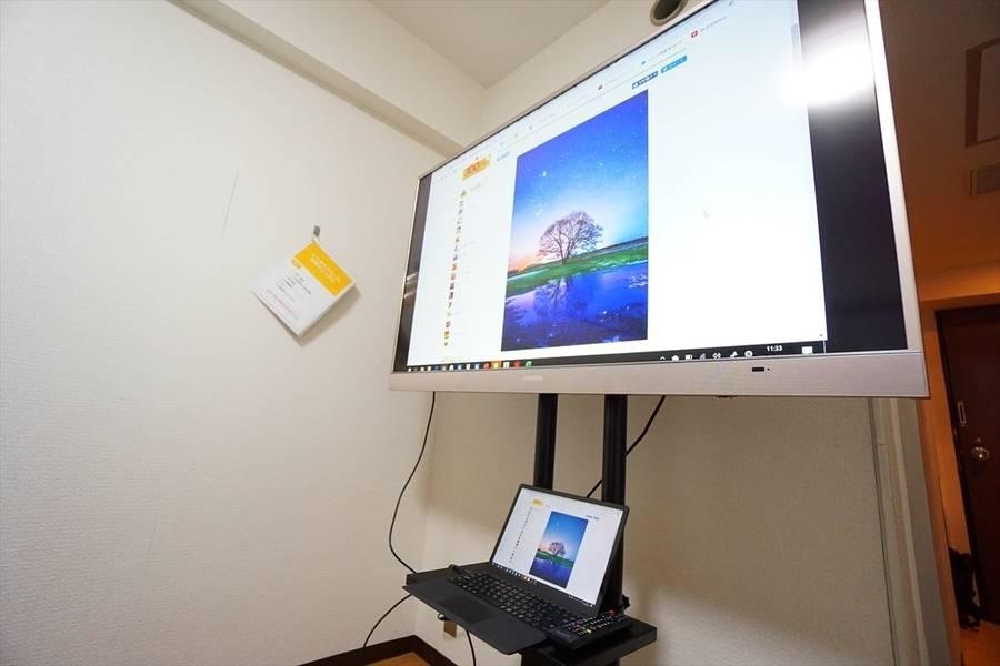 <ナギサ会議室>新大阪駅より徒歩1分☆10名収容☆Wi-Fi完備/ホワイトボード/55型TV