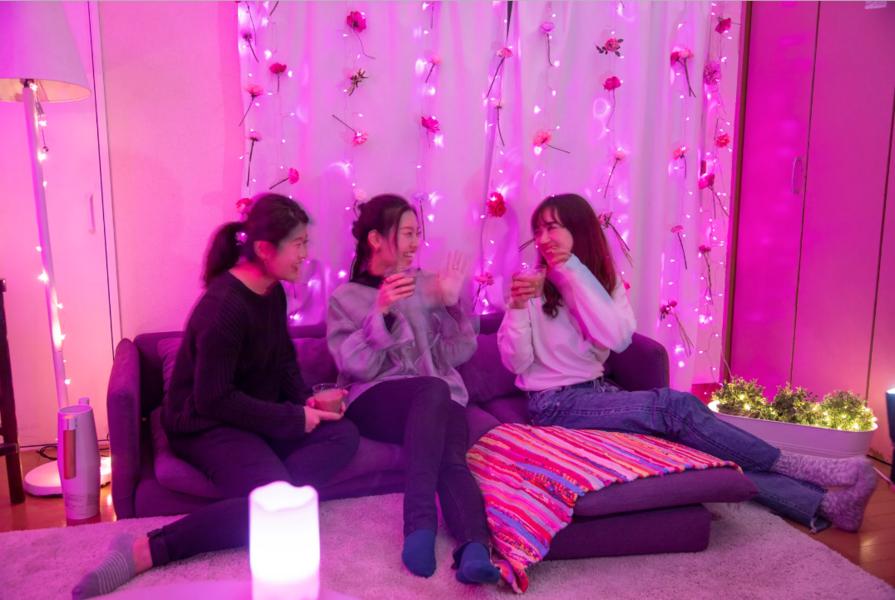 #ピンクGoburin【笹塚/幡ヶ谷/新宿】ピンク部屋 24H タコパ ママ会 個室 会議室  キッチン 女子会 撮影