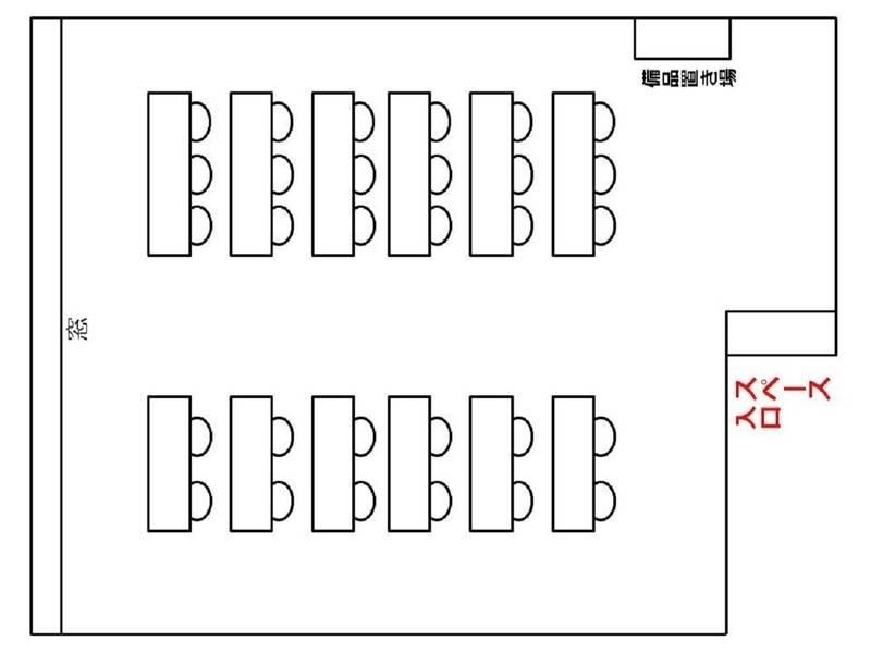 【NewOpen】本町 堺筋本町 心斎橋 駅近 格安 中規模会議室 30人着席目安 中規模なセミナー、会議、ミーティング、レッスン、オフ会など最適なスペースです 無線LAN プロジェクター ホワイトボード 完備 日当良好 夜もLED照明で明るい室内 プロジェクターとスクリーンも貸出【オープン記念格安貸出中】