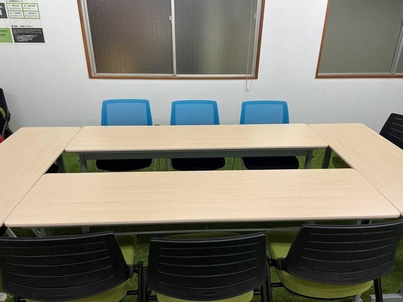 【飯田橋徒歩5分】桜と芝生の会議室。エア花見できます!大型モニター設置。トイレはウオシュレット。桜de GREENな会議室