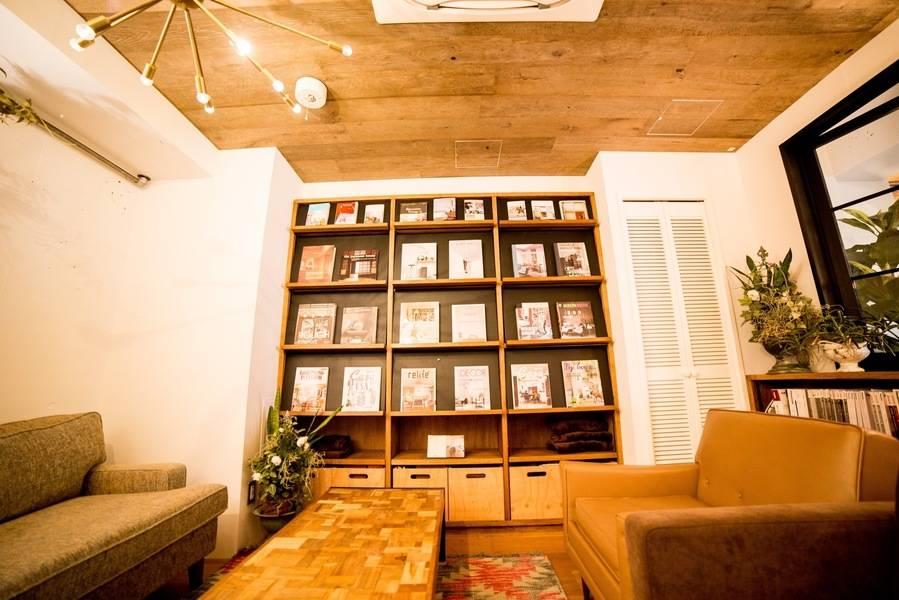 【1F リビングルーム】恵比寿徒歩3分 リノベカフェを貸切!おしゃれ空間でロケ撮影・インタビュー撮影・ミーティングで利用可。