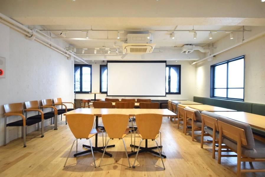 [直前割あり]会議・撮影・セミナーに/ Wi-Fi プロジェクター ホワイトボード無料 58㎡広々スペース【シブニラウンジ】