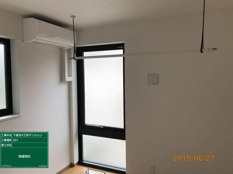 1Kマンションの個室(キッチン、水回り、家具家電付き)