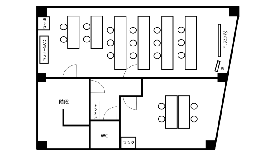 <ロード会議室>リモートワーク・テレワークにも最適!本町駅より徒歩4分!2部屋あり♪最大28名収容/wifi/プロジェクタ無料