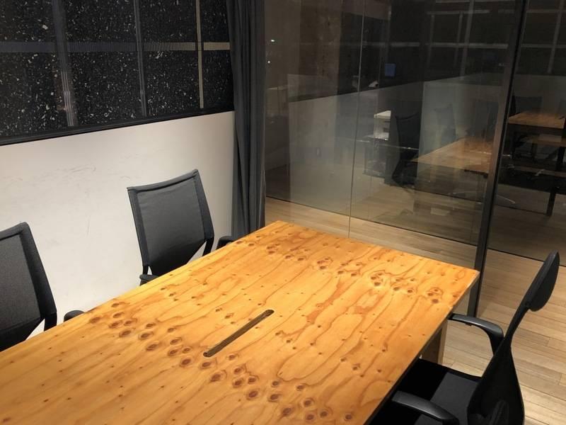 池尻大橋駅から徒歩30秒、会議や個人作業にお使いいただける小会議室