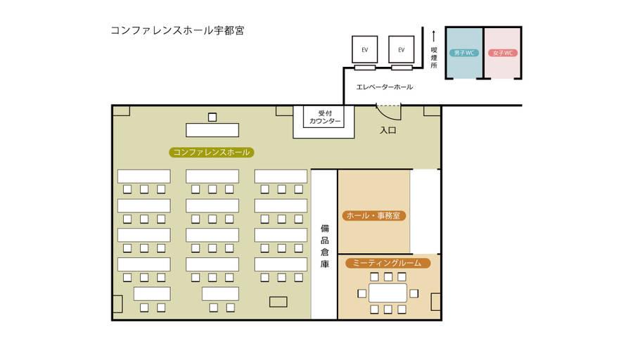 【宇都宮コンファレンスホール】Meeting Room (教室や小規模な商談に最適♪最大人数:8名)