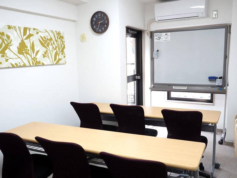 【恵比寿1分★パンダ's Room】明るく清潔・おしゃれ・高速光Wi-Fi ・空気清浄機♪プロジェクター♪岡村製ホワイトボード☆