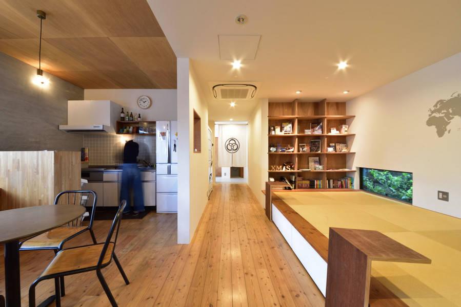 難波まで徒歩圏内!和モダンなデザイナーズホステルの共用スペース利用<テレワーク・小会議・小セミナー・自習勉強>