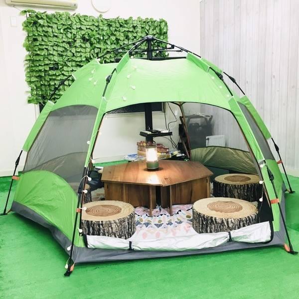 キャンプ気分で会議/ボードゲーム、パーティにも最適/飲食可能/Wi-Fi無料【キャンプルーム神戸三宮】