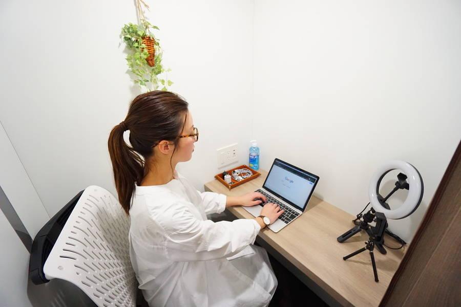 <ミニマルワークスペース上野スタンダードC>集中できるワークブース!Wi-Fi完備!/テレワーク/Web会議/面接