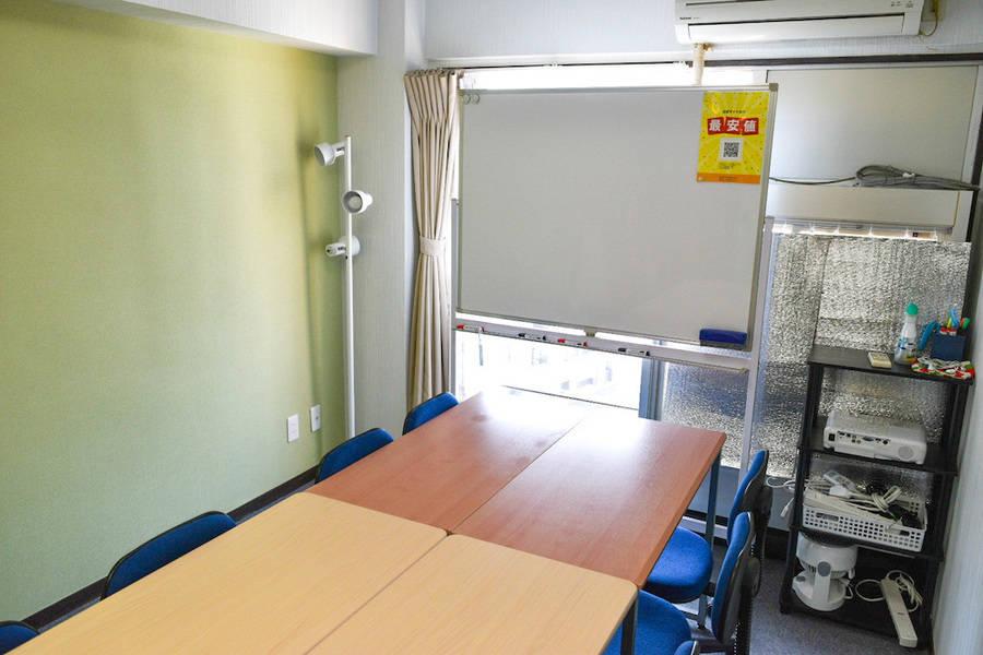 <フォレスト会議室>リモートワーク・テレワークにも最適!10名収容!名古屋駅徒歩5分♪wifi/ホワイトボード/エプソンプロジェクター/窓・換気扇・空気清浄機付