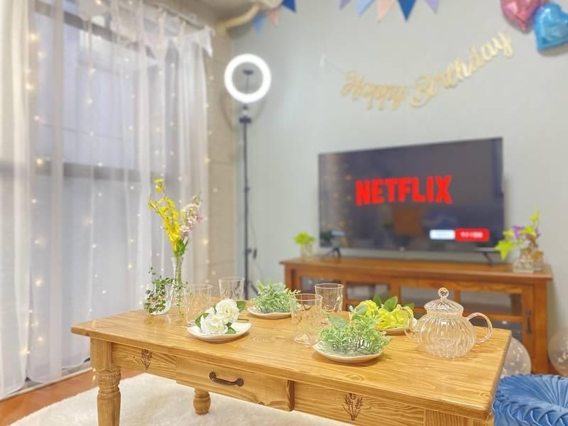 天王寺3分❗️【くつろぎ天王寺】Open記念キャンペーン✨テレワーク/女子会/デート/Netflix/誕生会/撮影/パーティ/映画観賞