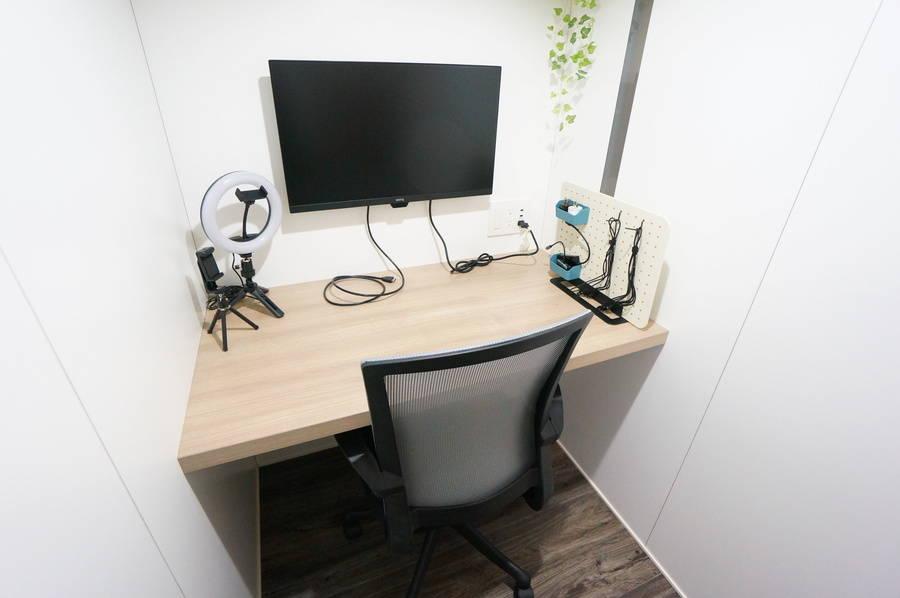 ⭐️光回線導入!⭐️<個室型ワークブース鶴見No.5>完全個室⭐️Wi-Fi完備!モニターあり/テレワーク/Web会議/面接