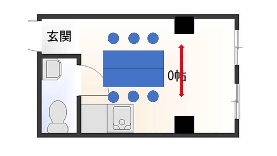 《VILLENT難波ブルー》なんば駅31番出口40秒/15㎡/最大10名/無料Wifi/スマホ撮影用ライト/テレワーク