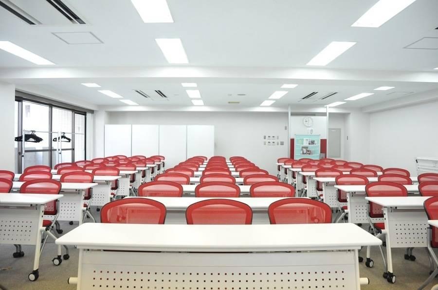 【五反田駅2分】24H営業!飲食可能♪明るいポップな100㎡超の貸し会議室