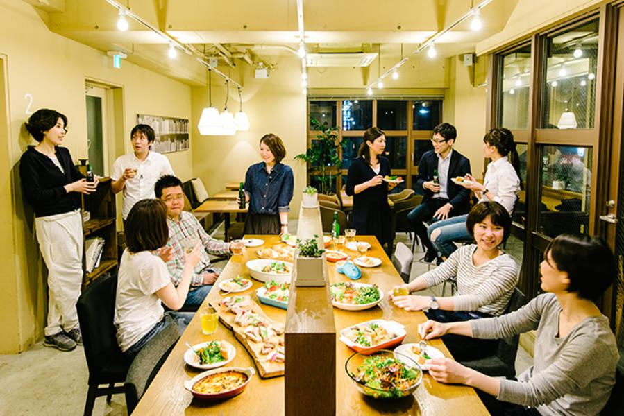 【東銀座徒歩2分/LEAGUE銀座】キッチン付きモダンラウンジ-セミナーやパーティー等様々な用途でご利用下さい!
