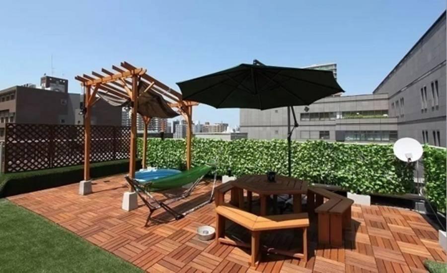 【西長堀駅徒歩2分】堀江の屋上庭園(バーベキュー可)の写真