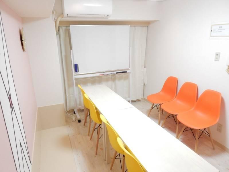 <パステル会議室>タワレコ徒歩1分★7名収容★完全個室★WIFI/プロジェクター/ホワイトボード無料