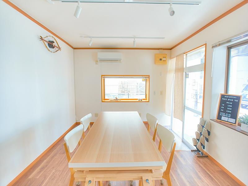 【1日貸切プラン(朝6時〜24時まで)】FreeSpace753 千葉県市川市【JR本八幡駅徒歩5分】 会議や教室、展示に上映会、物販や軽食パーティーと使い方は自由自在です。