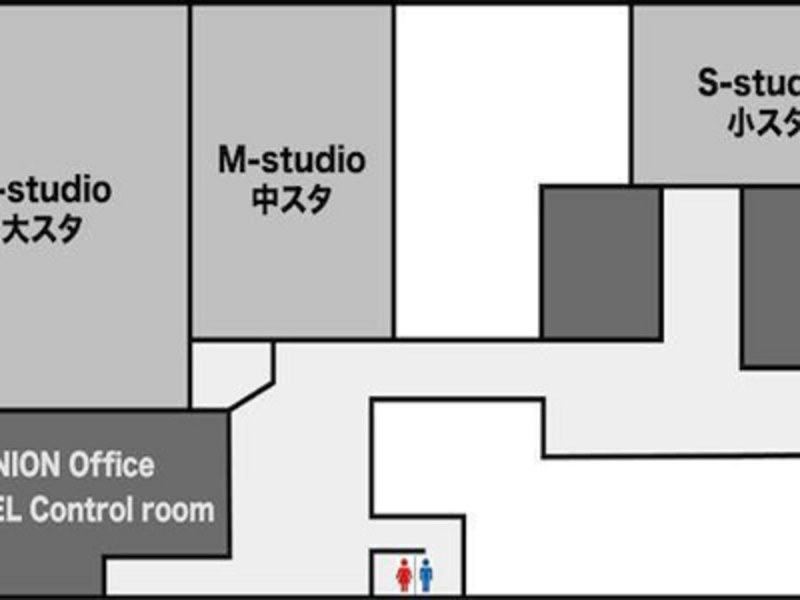 UNION-Sendai Sound Studio- M studio 無料駐車場20台! とてもバランスのとれた万能な部屋です!
