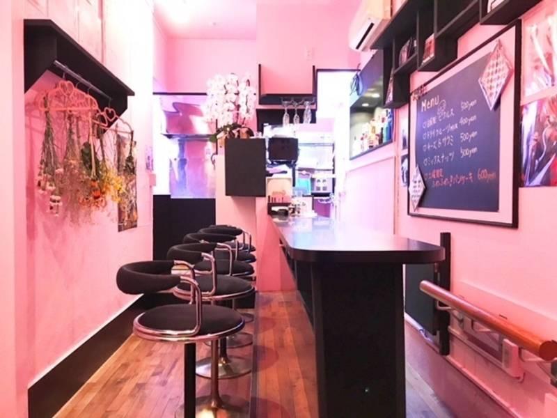 【京急川崎駅徒歩2分・JR川崎駅徒歩5分】ピンクの内装のアニメバーでオフ会・女子会・打ち合わせ・朗読劇の練習など