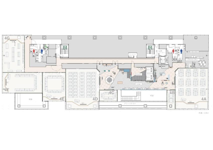 【渋谷/貸し会議室/ハイグレード】2019年6月NEWオープン!渋谷ソラスタコンファレンス 会議室名:4F【デザイナーズ/おしゃれ】