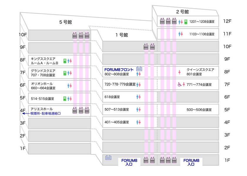 ☆渋谷道玄坂 FORUM 8☆~12名様向け 720会議室の写真