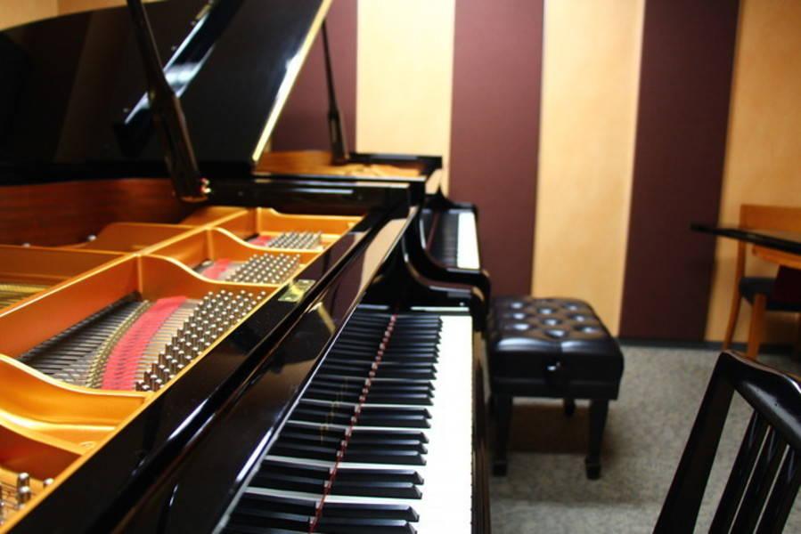【新橋駅すぐ/防音】グランドピアノが2台ならぶ部屋【ヤマハの音楽室・銀座アネックス M3】