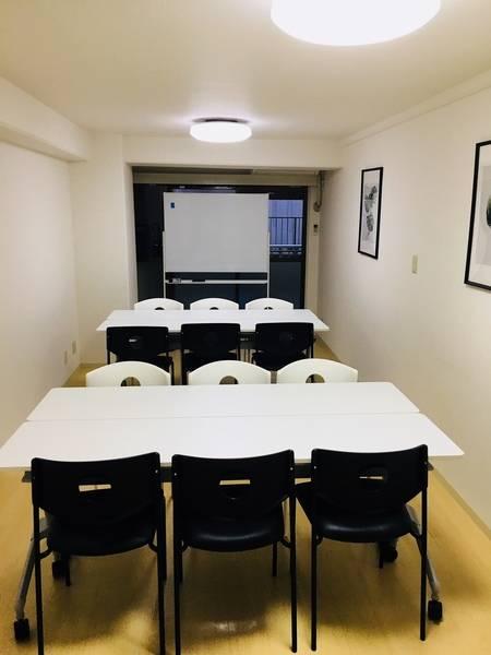【Lab恵比寿】シンプルな多目的スペース(会議・セミナー・勉強会・レッスン等/最大16人可能) WiFi・ホワイトボードあり