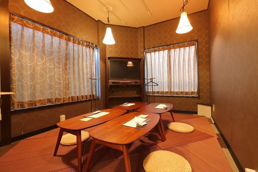 居酒屋2階の個室をレンタル♪完全個室のお座敷スペース!TVあり!女子会・誕生日会・ママ会・趣味の発表・撮影・会議利用などにも!