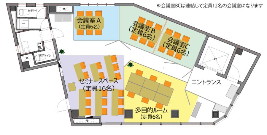 池袋コワーキングスペース FOREST 会議室A【定員6名】
