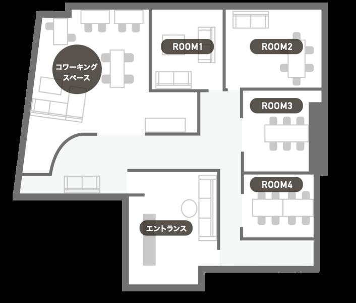 東銀座駅徒歩1分!「リラックス」がコンセプトの会議室(6名) 「Relo Works 東銀座」ROOM3