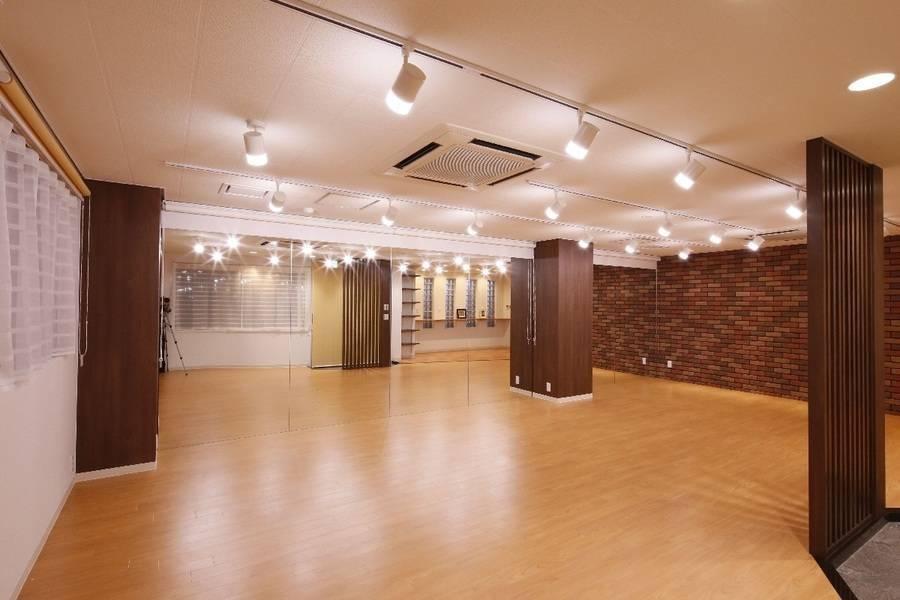 T-MS【円町駅 徒歩9分】広々53.65㎡の一面鏡張り ヨガ・ダンス・教室・パーティーに!